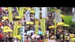 香港人遊行拒絕假普選方案