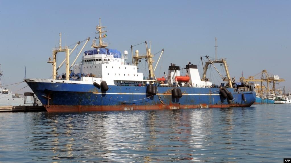 File A Russian Trawler Oleg Naidenovis Moored In Dakar On January