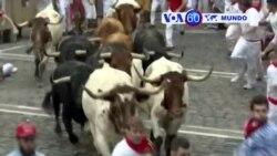 Manchetes Mundo 10 Julho 2017: Pelo menos duas pessoas feridas no festival de touros em Pamplona