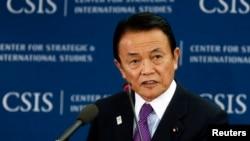 日本財務大臣麻生太郎。(資料圖片)