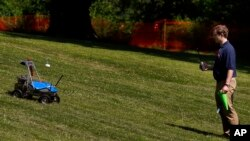 Robot competing in NASA's 2013 Robot Challenge in Worcester, Massachusetts June 5, 2013
