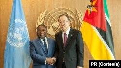 Presidente Filipe Nyusi e Secretário-Geral da ONU, Ban KI-moon, em Nova Iorque