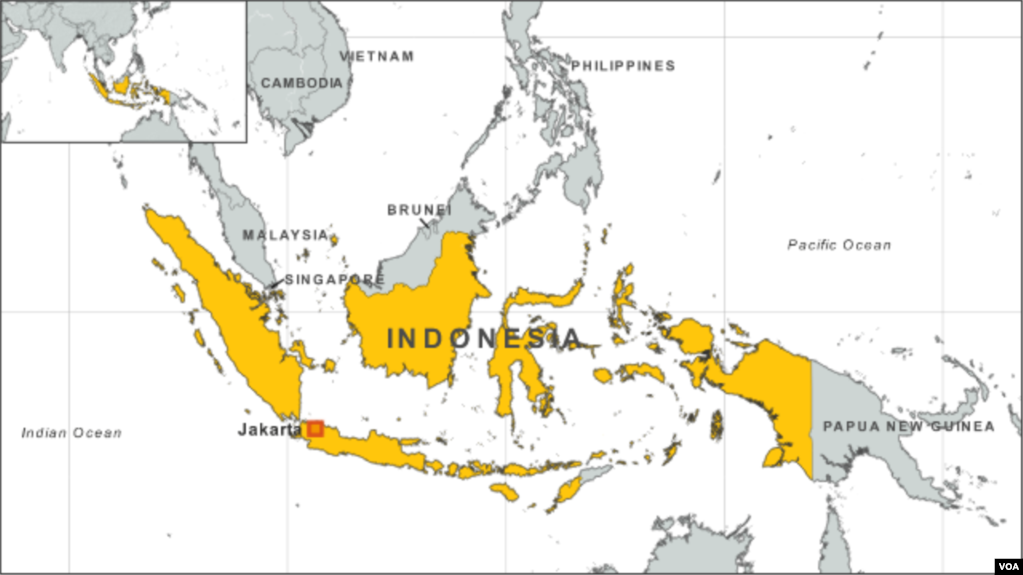 Indonesia arrests five islamic state suspects map of indonesia publicscrutiny Choice Image