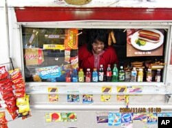 Snack vendor Mariah Silver Jenkins of Washington, DC is grateful for the freedom of being an American citizen