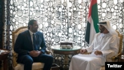 سعد حریری در دیدار با امیر ابوظبی