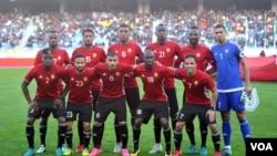 L'équipe libyenne lors du CHAN 2018.
