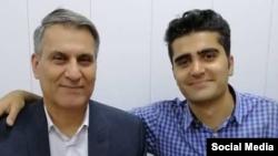 پویا بختیاری (راست)، از جانباختگان اعتراضات اخیر در ایران است که در دومین روز از اعتراضات به راهپیمایی رفته بود که مورد هدف گلوله قرار گرفت و جان خود را از دست داد.