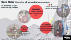 Gaza: Humanitarian concerns, U.N.