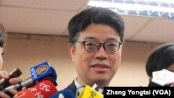 资料照:台湾陆委会发言人邱垂正