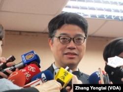 台灣陸委會副主委邱垂正(美國之音張永泰拍攝)