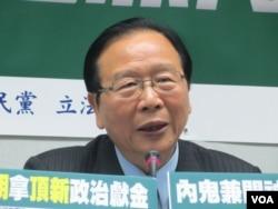 台灣執政黨國民黨立委林德福(美國之音張永泰拍攝)