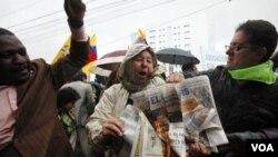 """Emilio Palacio fue el autor de la columna de opinión en donde se le llamó a Correa """"el dictador""""."""
