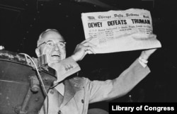 Many people -- including writers at the Chicago Daily Tribune -- believed Truman would lose the 1948 election to his opponent, Thomas Dewey. They were wrong.