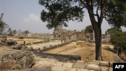 Khu vực đền Preah Vihear nằm trong vùng biên giới giữa Thái Lan-Campuchia