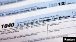 Mẫu bản khai thuế cá nhân của Mỹ