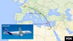 صبح روز پنجشنبه طیاره شرکت هواپیمایی مصر که از پاریس به سمت قاهره در حرکت بود، ناگهان از صفحه رادار ناپدید شد