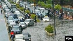 Banjir yang melanda Jakarta pada tahun 2006 silam (foto:dok).