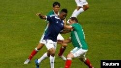 Le Camerounais Samuel Eto'o lors d'un match à Mexico pour le 66e congrès de la Fifa, le 11 mai 2016.