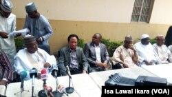 Taron Manema Labarai da wasu 'yan jam'iyyar APC suka shirya a sakatariyar 'yan jarida a Kaduna