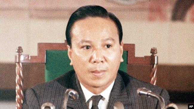 Tổng thống VNCH Nguyễn Văn Thiệu. (AP Photo)
