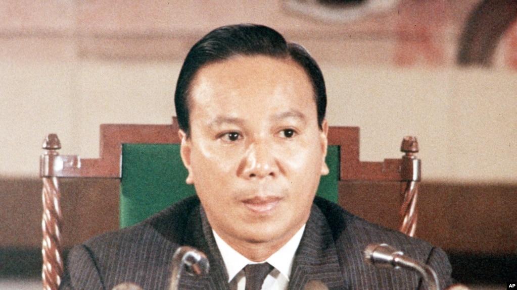Cố Tổng thống Nguyễn Văn Thiệu của Việt Nam Cộng hòa, năm 1970.