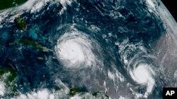 این تصویر طوفان ایرما توسط ستلایت بتاریخ ٧ سپتامبر گرفته شده است