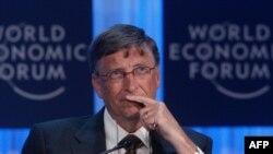 Ông Bill Gates, nhà sáng lập công ty Microsoft, dự cuộc họp của Diễn đàn Kinh tế Thế giới ở Davis, Thụy Sĩ hôm 26/1/12