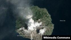 지난 2월 위성으로 촬영된 로카텐다 화산의 모습