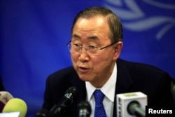 FILE - U.N. Secretary-General Ban Ki-moon