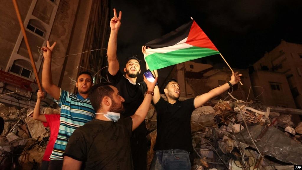 Gaza အပစ္အခတ္ ရပ္စဲလိုက္တာေၾကာင့္ ေဒသခံမ်ား ေပ်ာ္ရႊင္ေနပံု