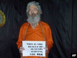 This undated handout photo provided by the family of Robert Levinson, shows retired-FBI agent Robert Levinson. Levinson, 64, went missing on the Iranian island of Kish in March 2007. Levinson's family received these photographs of him in April 2011.