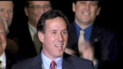 2012-02-08 美國之音視頻新聞: 桑托勒姆在共和黨三州初選得勝