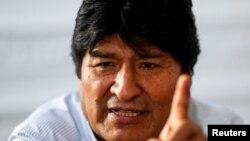 El expresidente Evo Morales durante la entrevista con Reuters en Buenos Aires, Argentina (Foto: Reuters/Agustín Marcarian)