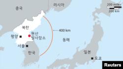 북한 탄도미사일 발사: 북한이 22일 두 발의 탄도미사일을 발사했다. 그 중 한 발은 400km를 비행한 후 동해에 떨어졌다.