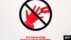 Campagne contre les mariages forcés en 2009 en France.
