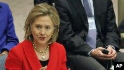 克林顿国务卿周二在联合国总部