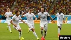 Jermaine Jones gỡ hòa cho đội tuyển Mỹ vào phút 64 của trận đấu.