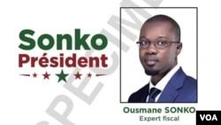 L'affiche de campagne officielle d'Ousmane Sonko.