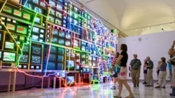 "Nam June Paik's ""Electronic Superhighway"""