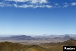 "A view of ""Inca de Oro"" (Inca gold) town (C) in the middle of the Atacama desert, near Copiapo city, north of Santiago, Chile, Dec. 16, 2015."