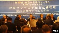 """分科讨论会中,最引人关注的是双方以军事专家为主的""""安全保障对话""""。(美国之音歌篮拍摄)"""