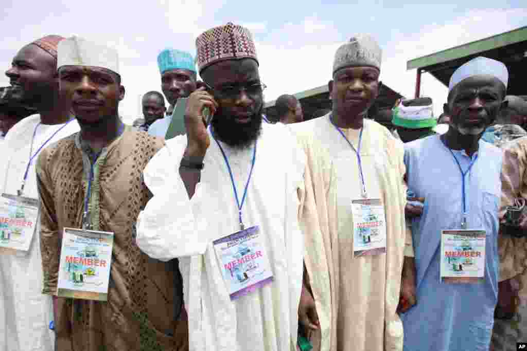 Nigeria PoliticsMembers of the newly formed All Progressive Congress party from Northern Nigeria attend the party convention in Lagos, Nigeria, Thursday, April 18, 2013.