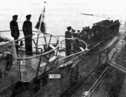 A German submarine in June 1943