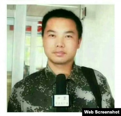 """网络短视频最火视线""""新媒体矩阵""""的记者王涛 (推特照片)"""