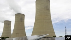 Cooling towers at Eskom's coal-powered Lethabo power station near Sasolburg, South Africa (file photo).