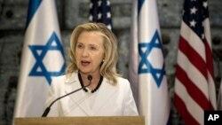 Госсекретарь США Хиллари Клинтон. Иерусалим. 16 июля 2012 г.