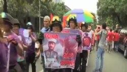 菲越活動人士抗議中國在南中國海軍事化