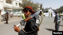 Para pendukung pemberontak Huthi berkumpul di Sanaa, Yaman (foto: dok).