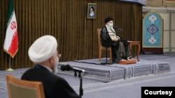 دیدار اعضای دولت روحانی با آیت الله علی خامنهای - چهارشنبه ۶ مرداد/ منبع سایت خامنهای