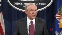 """美司法部长回避俄干扰选举调查,表示""""未曾想误导任何人"""